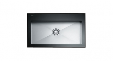 crystal black inox franke